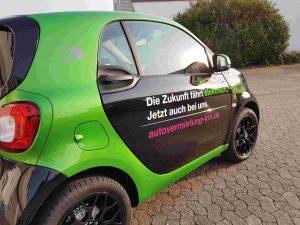 Fahrzeugbeschriftung für Autovermietung